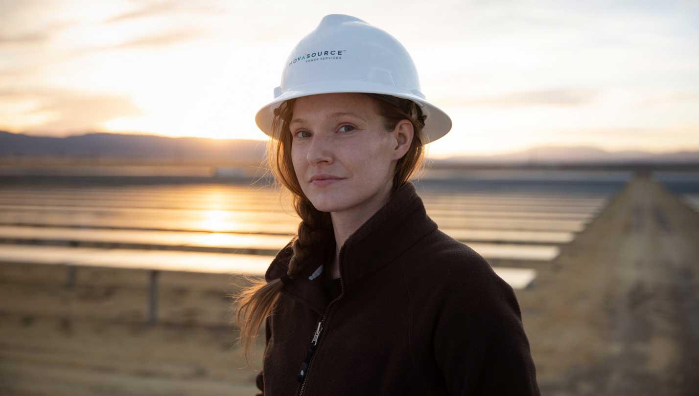 NovaSource expert at renewables site